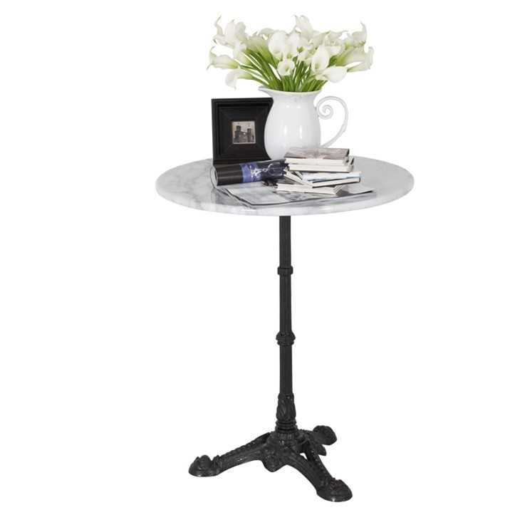 Provincial Round Marble Top Table 62cm D - This marble top table with cast iron legs is the perfect works perfectly accessory or feature piece for any room. Also available in square. $129.95