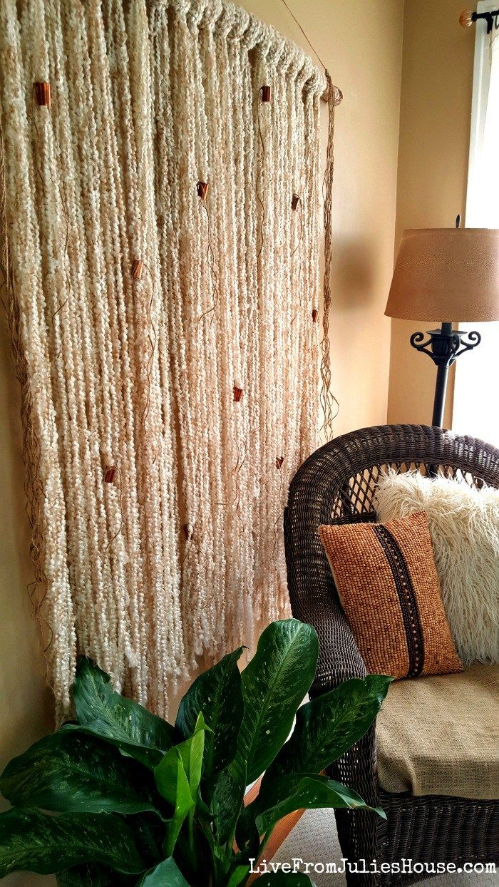 easy boho yarn wall hanging tutorial yarn wall hanging on wall hangings id=88333
