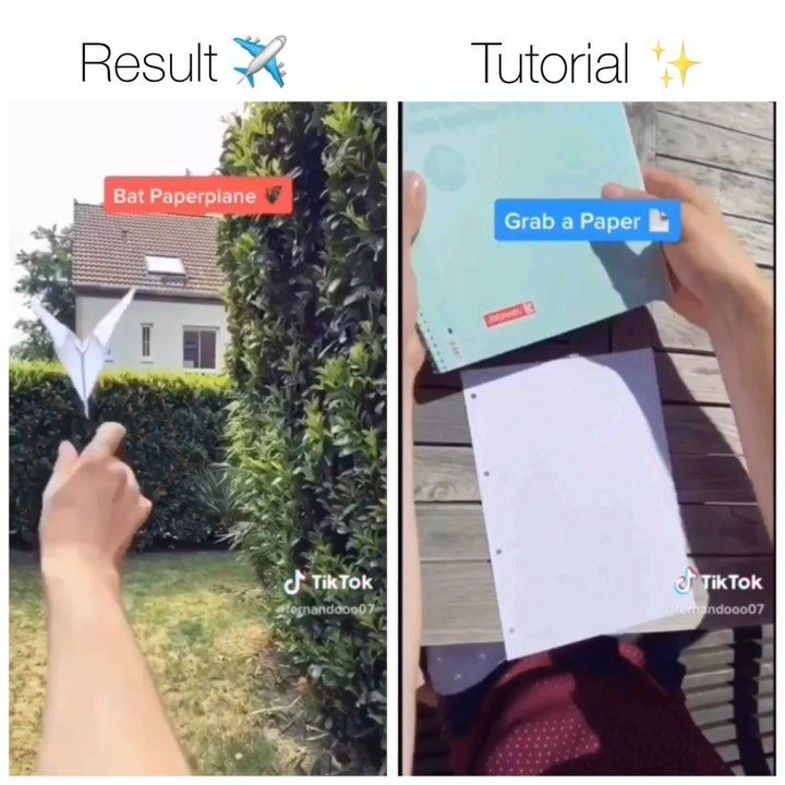 Tiktok On Instagram Comment Plane In Your Language Follow Tiktokrelaxed For More Paper Airp Make A Paper Airplane Paper Plane Paper Airplanes