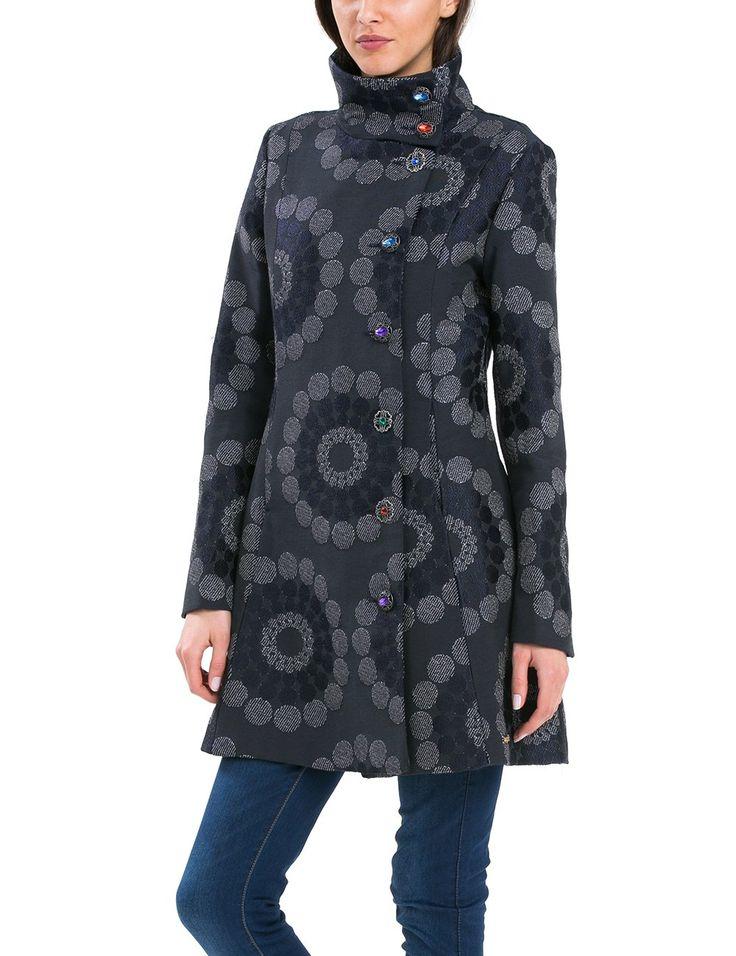 Desigual CHAQ_EMY-LEE-Abrigo Mujer, Mehrfarbig (Marino 5001) 42