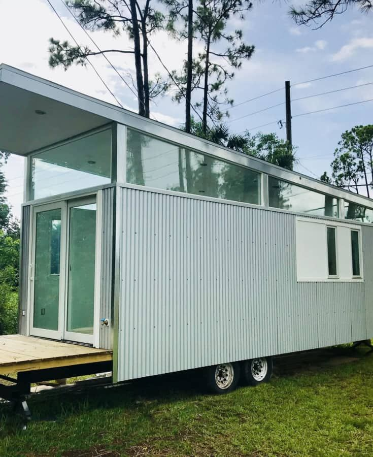 Florida Modern Cracker Style Tiny House For Rent In Lake Park