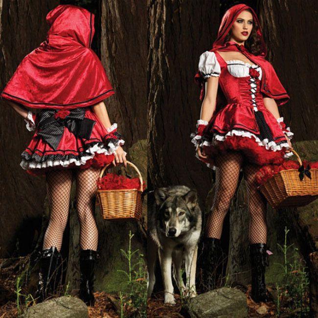 Halloween Little Red Riding Hood Costume Fancy Dress Costume Women Sexy Cosplay