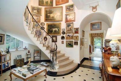 Dog pictures (Brooke Astor's home)