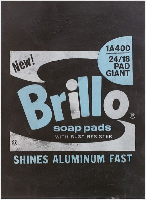 """#LifeOnWall #PapeBoxGallery """"Brillo Soap Pad Black"""" Unique high quality art piece (only one). Handmade silkscreen and paint. Paper 300 g Gallerie Art Silk. Size 25,98 x 18,11 Inch (66 x 46 cm). 195 USD"""