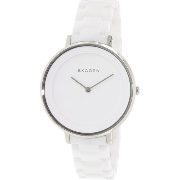 Skagen Women's SKW2300 Ditte Stainless Steel Watch with Ceramic Bracelet - Watch Direct