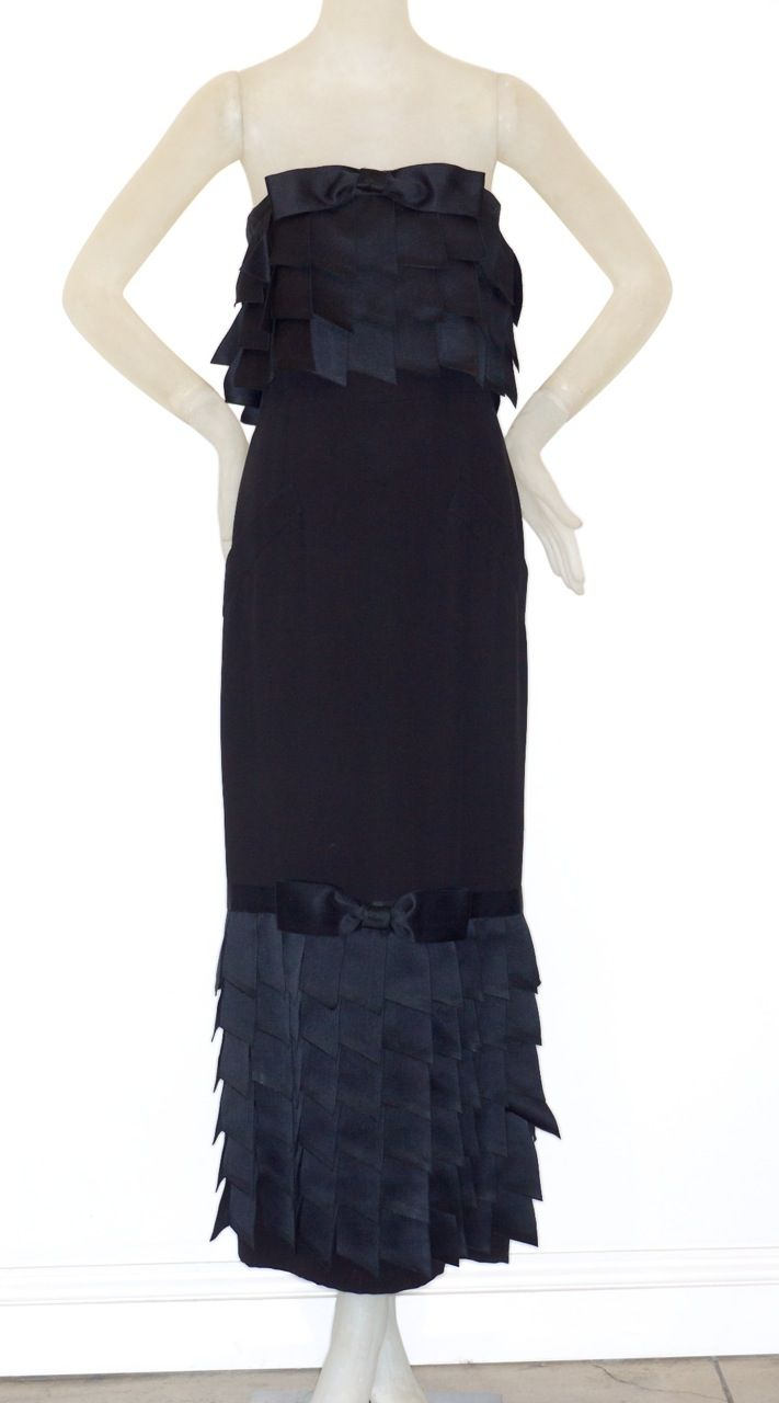 The dress is chanel - Vintage Chanel Dresses Rare Vintage Chanel And The Little Black Dress