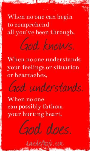 And that is why we so desperately need him!  Hope for Hurting Hearts: For God alone knows the hearts of all men...