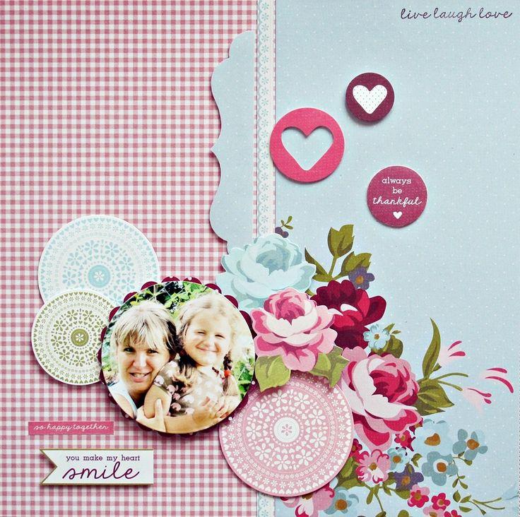 'Live laugh love layout by Anna Zaprzelsk DT Kaisercraft 'Secret Garden' Collection - Wendy Schultz ~ Scrapbook Pages 3