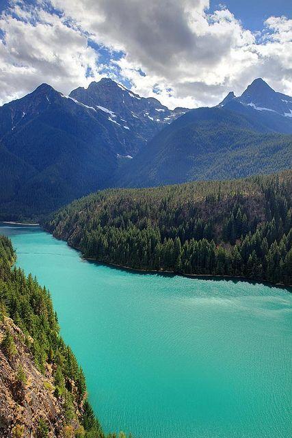Diablo Lake in the North Cascades National Park, Washington State