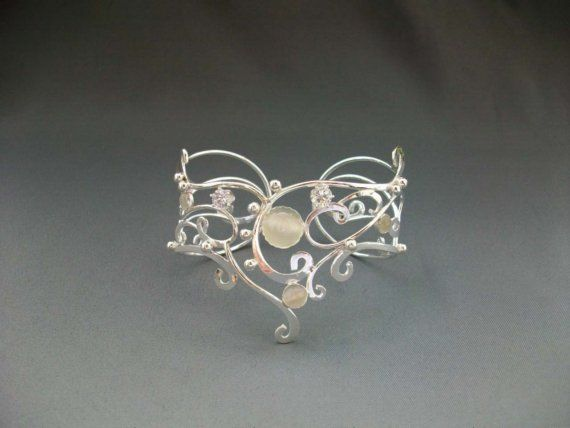Sterling Fashion Bracelet Cuff Silver Glam by ElnaraNiall on Etsy, $219.99
