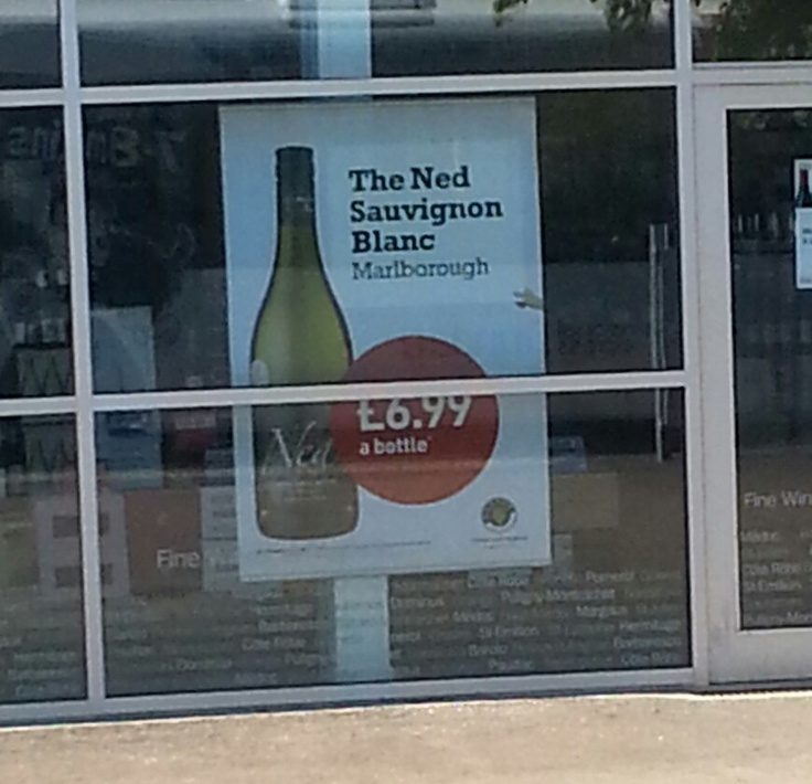 Mainly for those who understand Scottish slang: Ned Sauvignon at the Majestic Wine Warehouse.