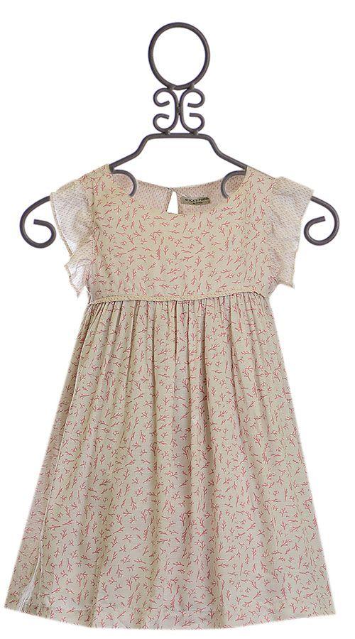 Sticky Fudge Talia Dress with Coral (12-18Mos18-24Mos3-4)