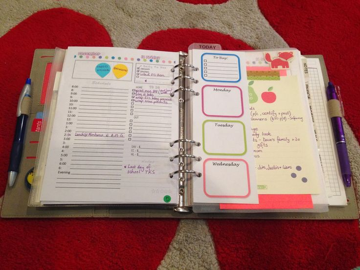 A Peek into my A5 Filofax Home Management Binder System ...