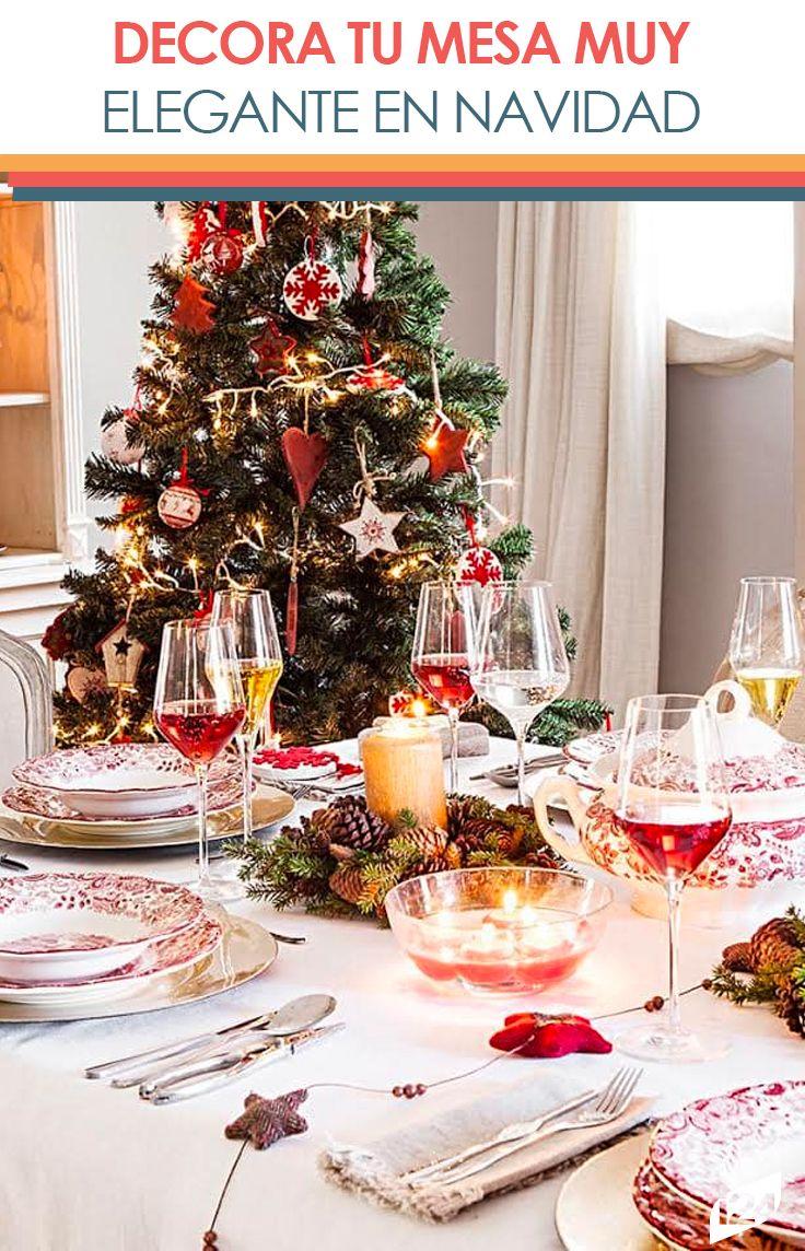 Con estos #tips y mucha creatividad #navidad #christmas #mesa #decoración #ideas