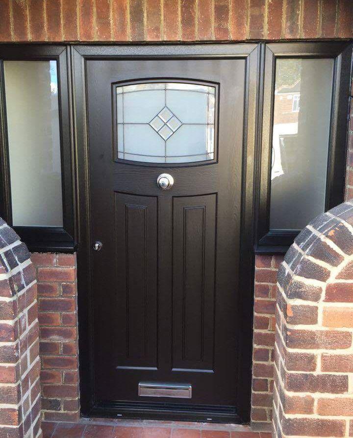 Aclassic black Newark with Bright Star glass. #Rockdoor #Compositedoor #Frontdoor