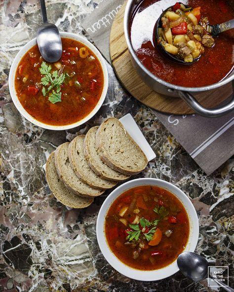 Oryginalna węgierska zupa gulaszowa - bez ogórków i bez pieczarek. Przepis na węgierską zupę gulaszową. Jak zrobić prawdziwą zupę gulaszową?