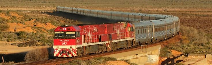 The Ghan, by train to Australia's Red Centre.