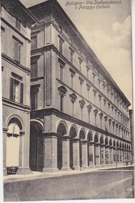 Al Trust delle Cartoline Postcard - Bologna - Via Indipendenza e Palazzo Coltelli  c1909