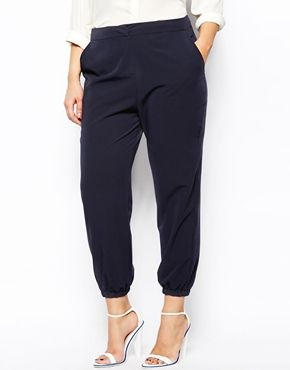 Trouser With Elastic Cuff