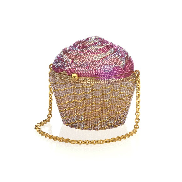 #Pink cupcake crystal novelty minaudiere by Judith Leiber. #Fashion