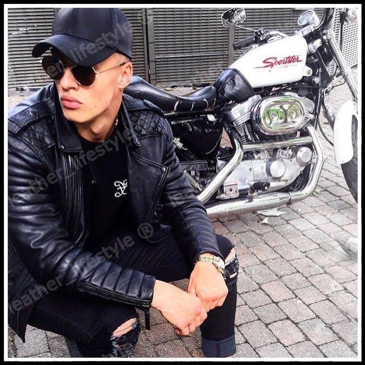 Nuevo Para hombres Cordero Genuino Cuero Chaqueta Negro Slim Fit Chaqueta de Motociclista Motocicleta   Ropa, calzado y accesorios, Ropa para hombre, Abrigos y chaquetas   eBay!