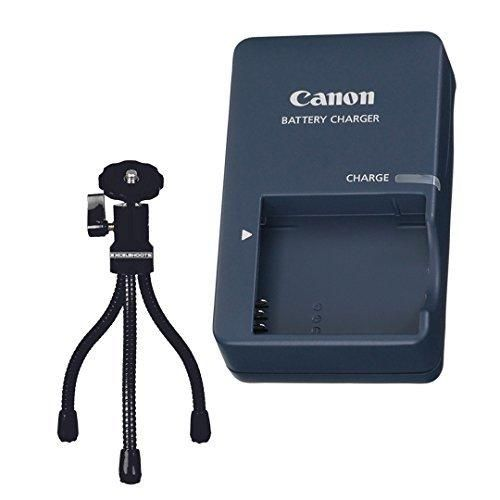 ExcelShots Kit: CB-2LV Battery Charger for Canon NB-4L Battery Pack & for Canon Camera PowerShot Elph Selected Models  Mini Tripod.