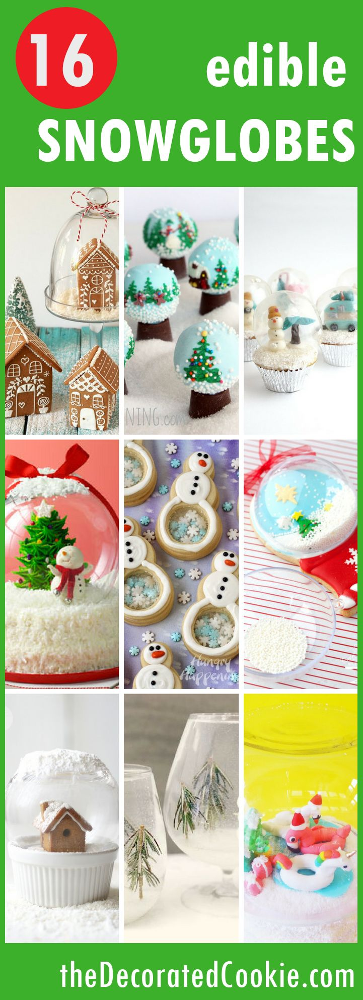 16 edible snowglobes for Christmas