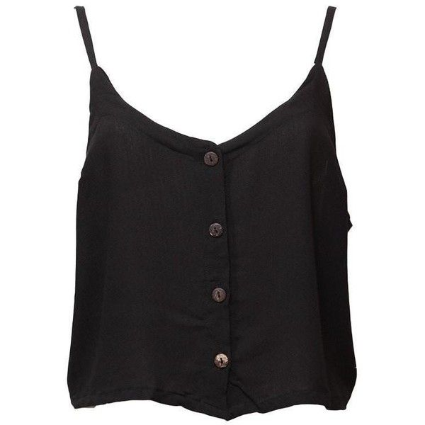 Button Up Crop Top (81 MYR) ❤ liked on Polyvore featuring tops, beach crop tops, button down top, holiday party tops, night out tops and button up crop top