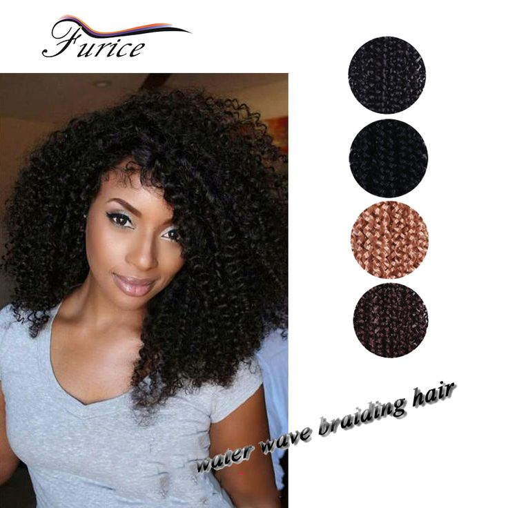 Freetress 18inch Deep Twist Crochet Hairstyle FreeTress Water Wave Curly Crochet Braids Hair Extension Elastic Synthetic Hair-in Bulk Hair from Health & Beauty on Aliexpress.com | Alibaba Group