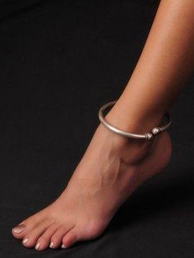 Bold Sterling Silver Anklet (Adjustable)