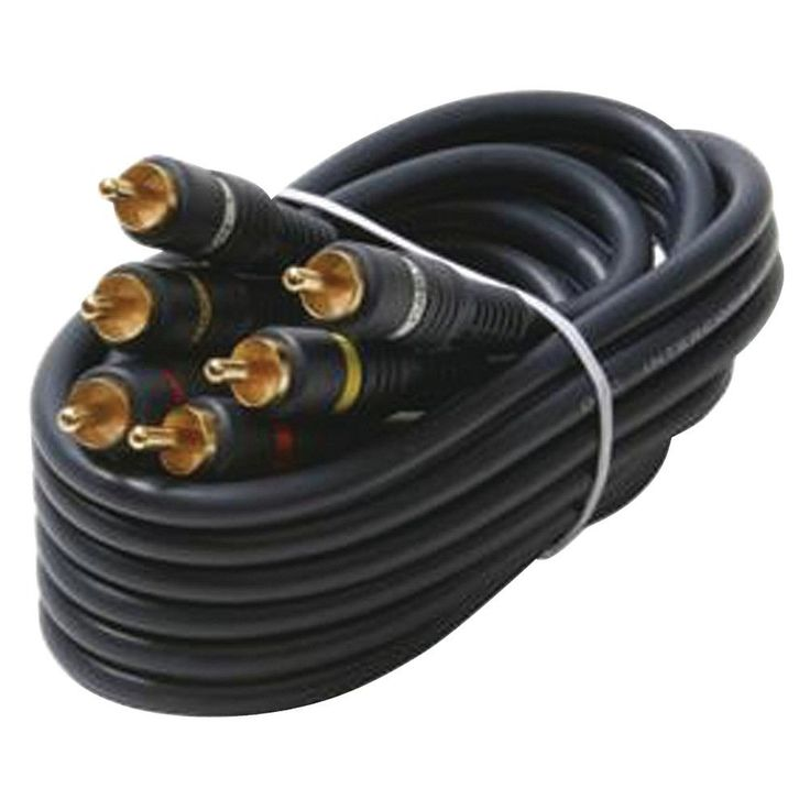 Steren Triple Rca Composite Video Cable (25ft)