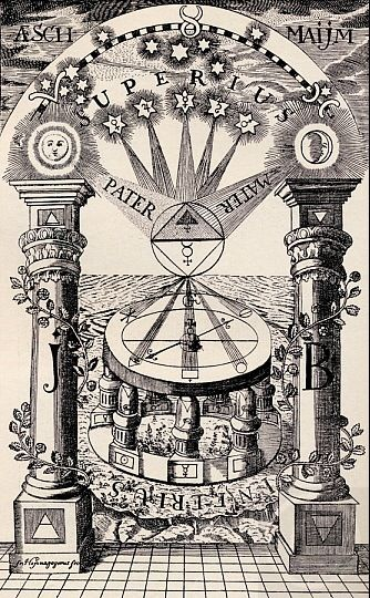 Reproduction of a Freemason-Rosicrucian compass, 1779.
