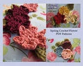 PDF Crochet flower patterns