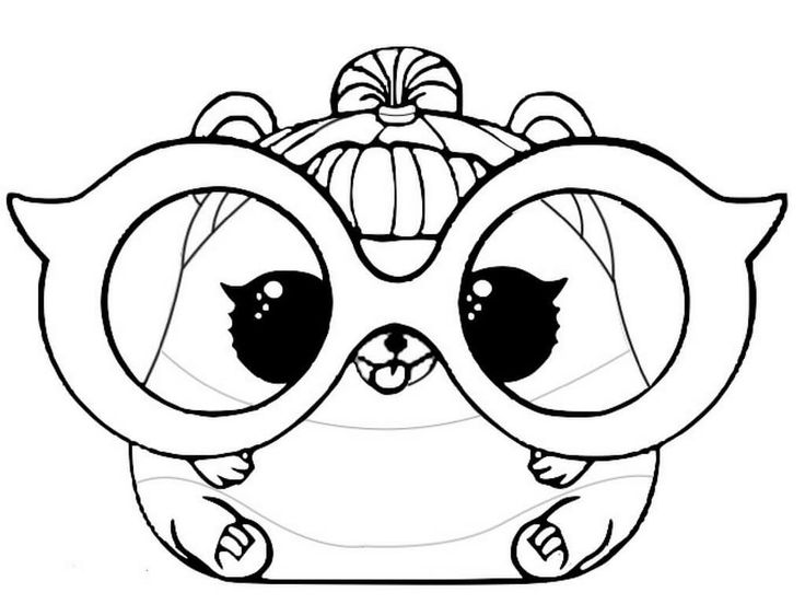 LOL Pets Coloring Pages Free Printable Trouble Squeaker