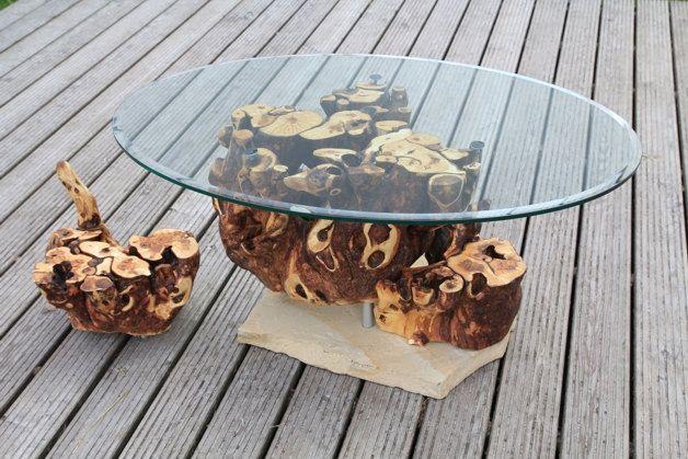 Table Tisch Couchtisch Möbel Kunst Einzelstück by HolzKunstWerk