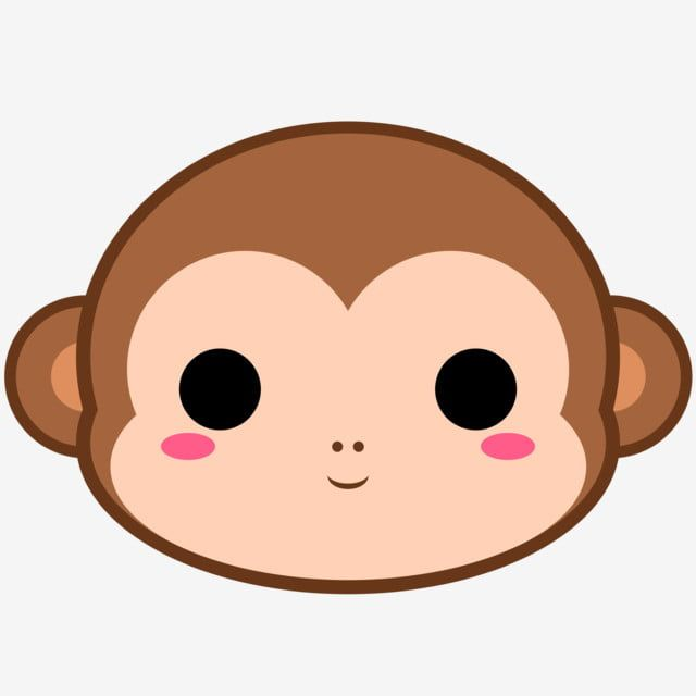 Cute Monkey Head Monkey Brown Cute Png Transparent Clipart Image And Psd File For Free Download Monkey Drawing Cute Cute Little Drawings Cute Cartoon Animals