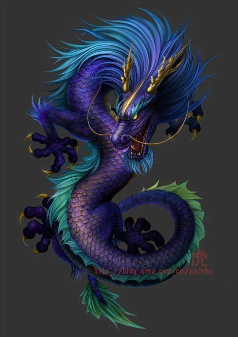 Dragón Chino Azul