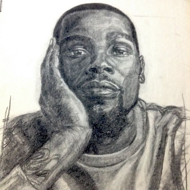 in progress of Kevin Durant - Chalk Charcoal on Paper #chalkcharcoal #Charcoal #Charcoaldrawing #art #drawing #blackandwhite #blackandgray #kevindurant #kd #gsw #warriors #goldenstatewarriors #basketball #nba