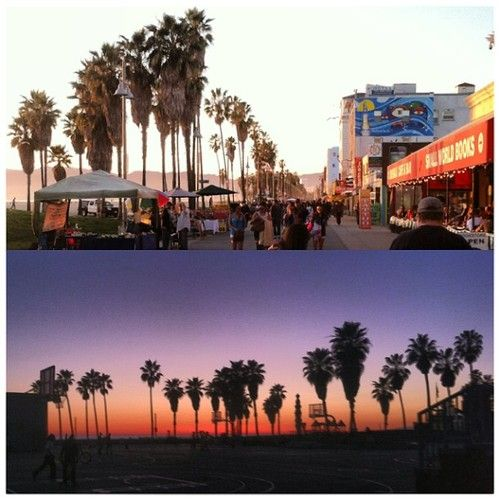 #VeniceBeach #California #SoCal #sunset (at Venice Boardwalk)