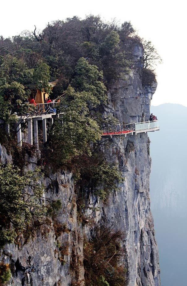 "Skywalk ""Walk of Faith"", Hunan, China"