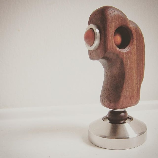 One of the 80 different coffee tamper design by reclaim antique rosewood furniture parts in my exhibition #coffee #tamper #antique #rosewood #stainless#steel #handmade #art #design #details @secawannsuch @zack_atelier #insta_penang #penang #penangcaffe #latteart #latte#srartwork #discover #coffeeart #connect #promote #talnts #repost#Art_Spotlight #coffeelover #coffeegram #coffee_inst
