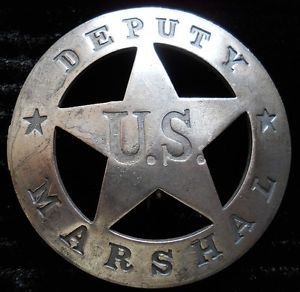 old west deputies | Details about Old West Deputy US Marshal silver lawman badge #BW74