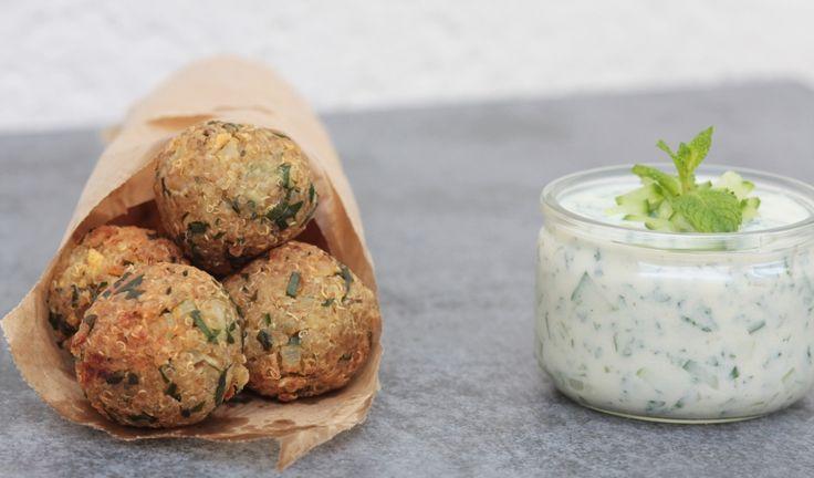 falafels de quinoa sauce tzatziki - VEGETARIEN