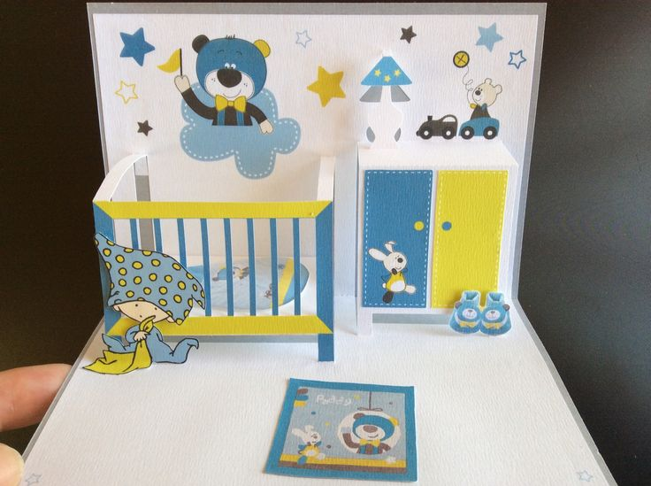 3д открытка для новорожденных, открытку можно сделать