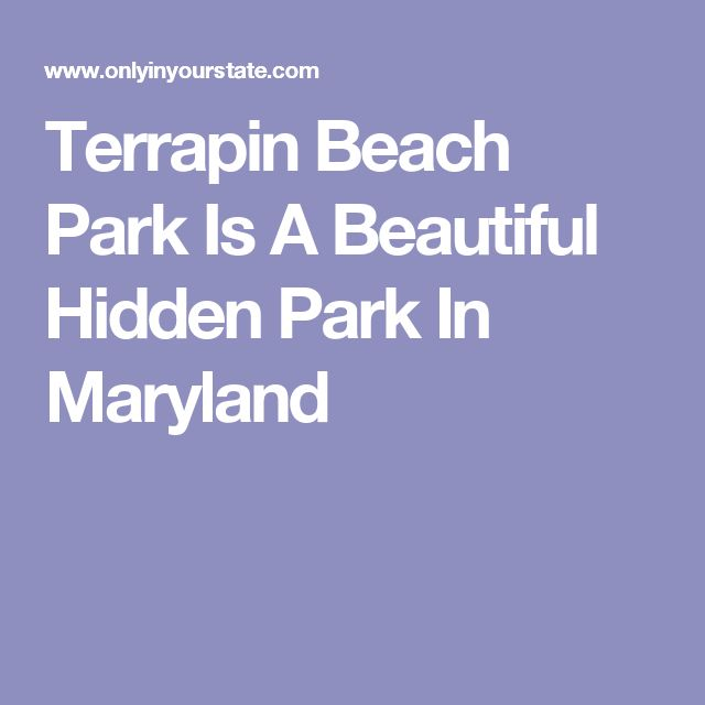 Terrapin Beach Park Is A Beautiful Hidden Park In Maryland