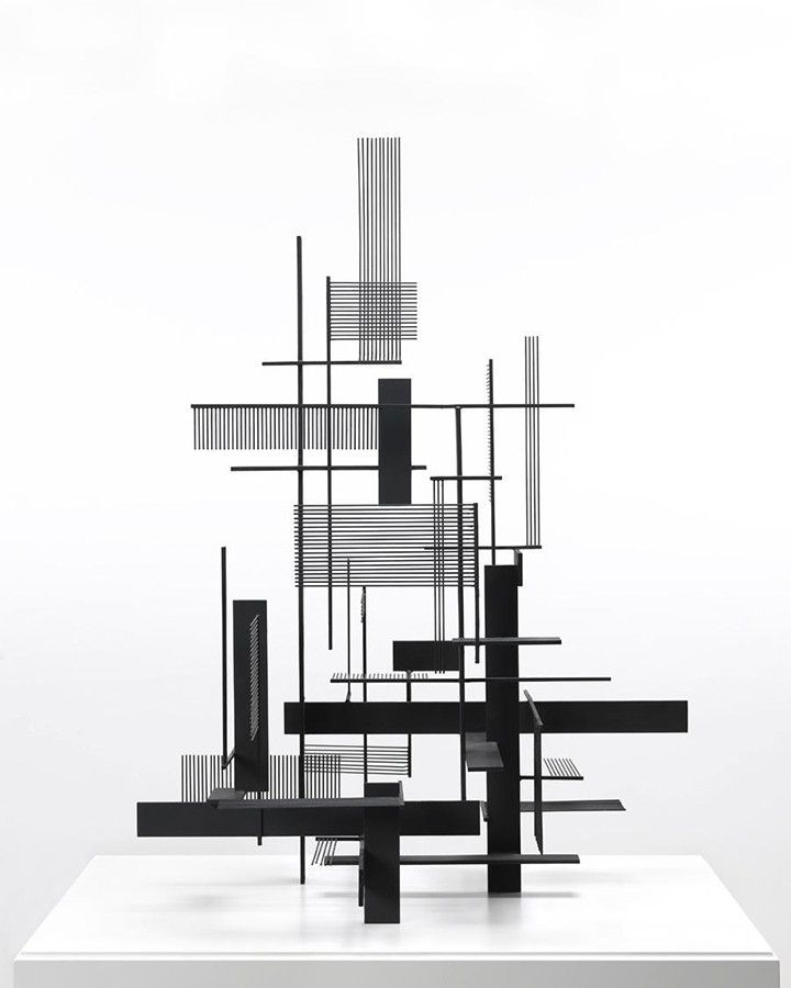Justin Bolognino Sidney Gordin Construction #7 Painted steel 1954