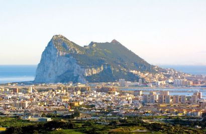Rock of Gibraltar, British Territory, Southern tip of Spain
