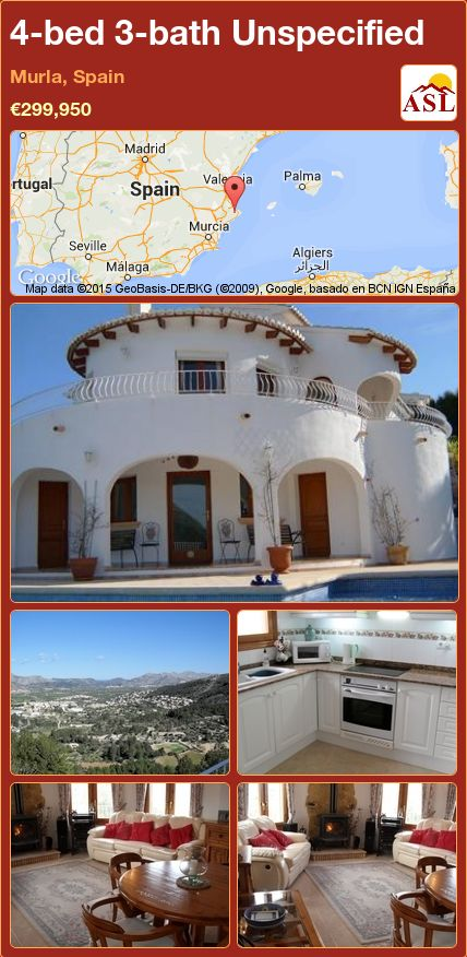 4-bed 3-bath Unspecified in Murla, Spain ►€299,950 #PropertyForSaleInSpain