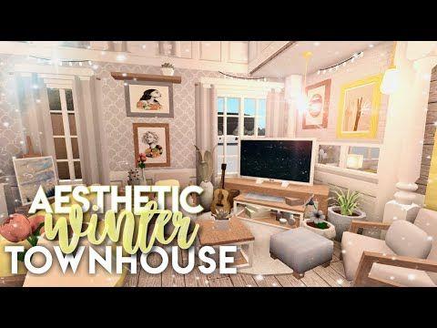 Bloxburg Aesthetic Winter Townhouse Youtube In 2020