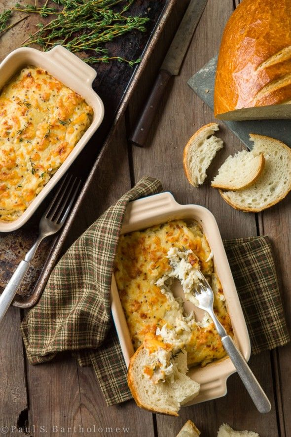 Crab Bake with Dubliner Cheese ~ Serve baked crab with crusty bread and a cold beer.